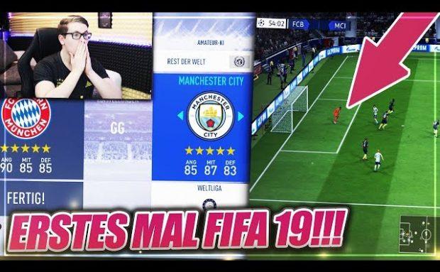 MEIN ERSTES MAL FIFA 19 gegen den Computer